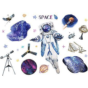 Astronauti spaziali Adesivi murali Decalcomanie Home Sfondo Pasta decorativa