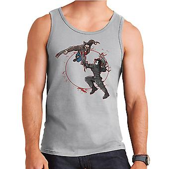 Blood Equinox Wolverine Vs Edward Scissorhands Men's Vest