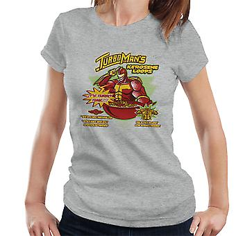 Kerosene Loops Turbo Man Jingle All The Way Cereal Women's T-Shirt