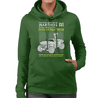 Halo Warthog Service en reparatie handleiding vrouwen de Hooded Sweatshirt