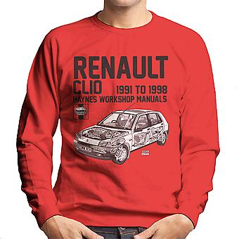 Haynes Owners Workshop Manual Renault Clio Black Men's Sweatshirt
