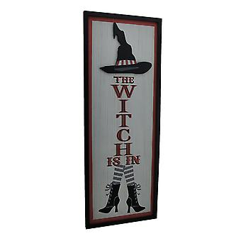 The Witch Is In Decorative Wood Wall Hanging