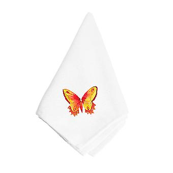 Carolines Treasures  8857NAP Orange and Yellow Butterfly Napkin