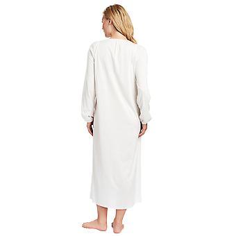 Feraud 3883039-10044 Women's Champagne White Cotton Night Gown Loungewear Nightdress