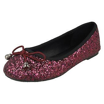 Ragazze posto sul piatto Glitter ballerine H2442