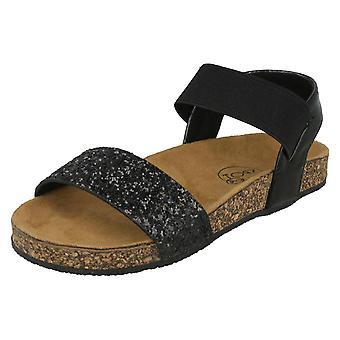 キラキラ ミュール ・黒繊維 - 英国の女の子のスポット サイズ 11 - EU サイズ US サイズ 12 - 29
