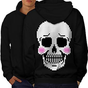 Niedliche Skelett Schädel Männer BlackHoodie Rücken erröten | Wellcoda