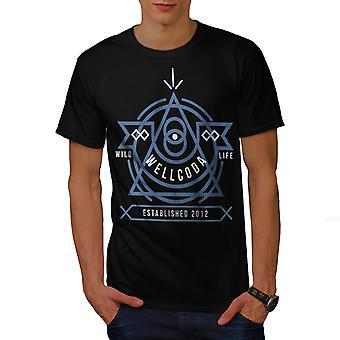 Wild Life Men BlackT-shirt   Wellcoda