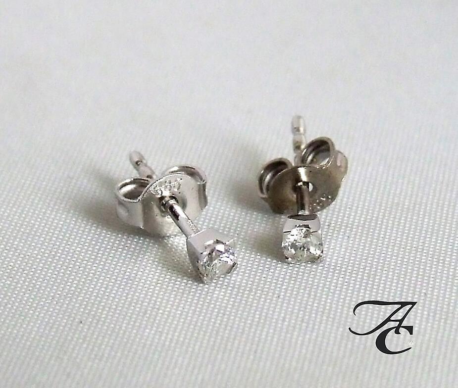 Atelier Christian white gold earrings with diamond