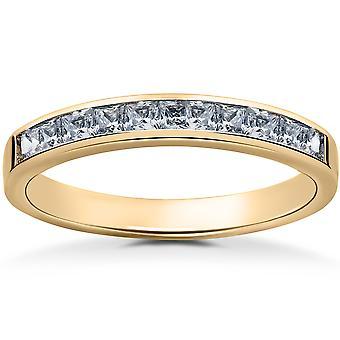 Yellow Gold 1 / 2ct Princess Cut Diamond Wedding Ring