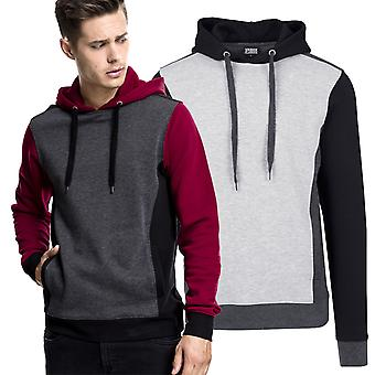 Urban classics - 3-tone sweat Hoody Hooded Fleece pullover