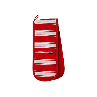 Ladelle Butcher Stripe Series II Red Double Oven Glove