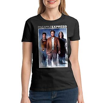 Pineapple Express Color Poster Women's Black T-shirt