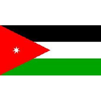 Jordanian lippu 5 jalkaa x 3 ft jossa ripustamista varten