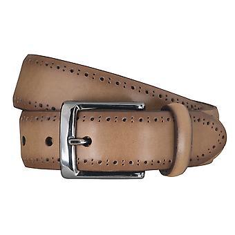 SAKLANI & FRIESE belts men's belts leather belt grey 5117