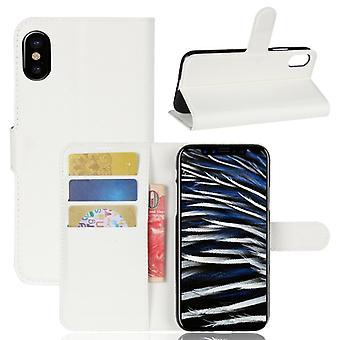 Pocket plånbok Deluxe vit för Apple iPhone X / XS 5,8 tum skydd fodral täcker fallet