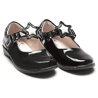 Lelli Kelly Colourissima Star Changeable Strap Black Patent School Shoes
