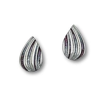 Argent sterling traditionnel Honeycomb moderne contemporain Design paire de boucles d'oreilles - EE433