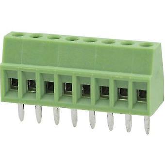 Degson DG308-2.54-02P-14-00AH-1 Screw terminal 0.82 mm² Number of pins 2 Green 1 pc(s)