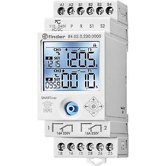 Finder Temporizador de montaje en riel DIN Tensión de funcionamiento: 230 V AC 84.02.0.230.0000 2 cambios 16 A 400 V AC