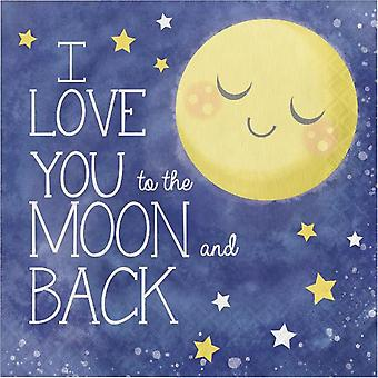 Moon love have you love napkins 33 x 33 cm 16 count children birthday theme party