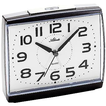 Atlanta 1919/4 alarm clock quartz analog anthracite quietly without ticking with light Snooze