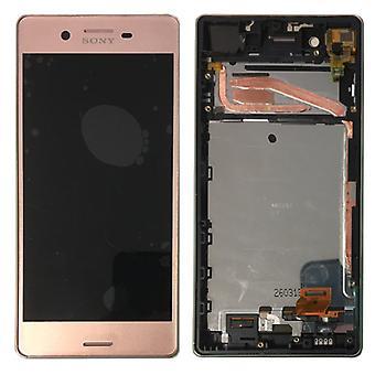 Sony дисплей полный блок LCD с рамкой для Xperia X F5121 F5122 розовые запасные части