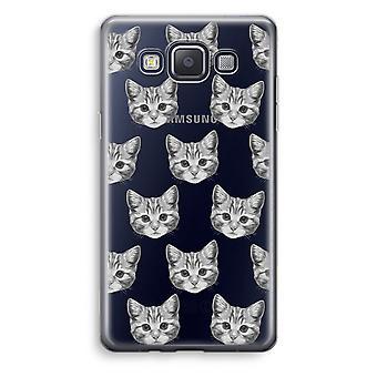 Samsung Galaxy A3 (2015) gjennomsiktig sak (myk) - kattunge