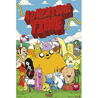 Adventure Time Characters Poster Poster Print