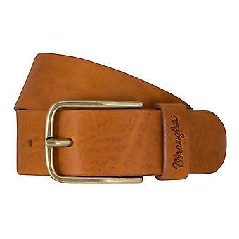 Cuir de ceinture WRANGLER ceintures ceintures hommes Cognac 7459