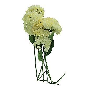 6 Piece Cream Hydrangea Artificial Flower Stem Set