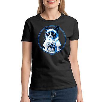 Grumpy Cat Grumpy In Shirt Women's Black Funny T-shirt