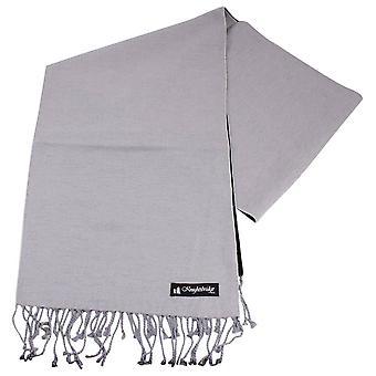 Sciarpa di Knightsbridge cravatte pianura - argento
