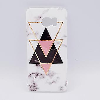 Triangles en marbre de poche-noir Samsung S7 bord & rose