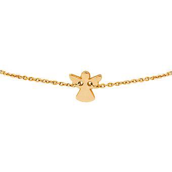 Senhoras ou meninas pulseira anjo. Prateado, banhado a ouro ou rosa-Gößen ajustável