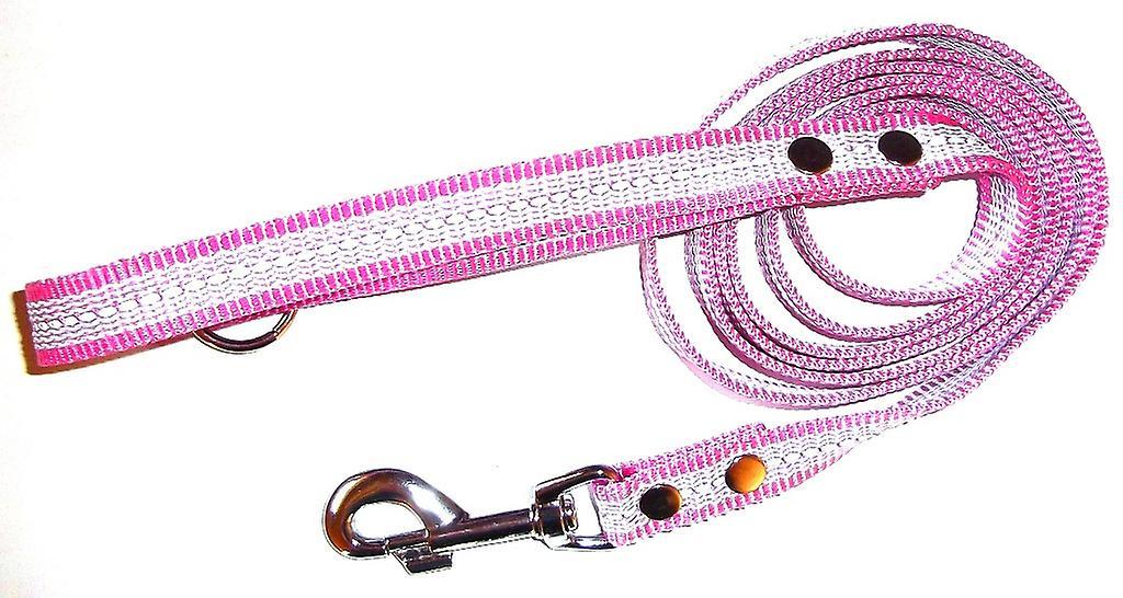 K9-Sports Super Grip leash with handles, 20 mm x 200 cm, Reflex