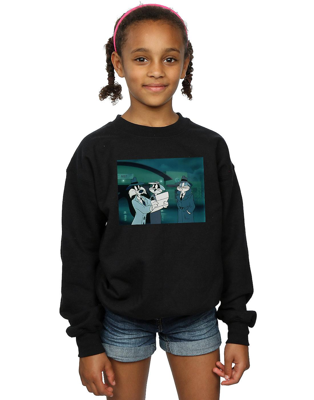Looney Tunes Girls Bugs Bunny Sylvester Letter Sweatshirt