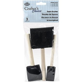 Royal & Langnickel Crafter's Choice Foam Brush Set of 3