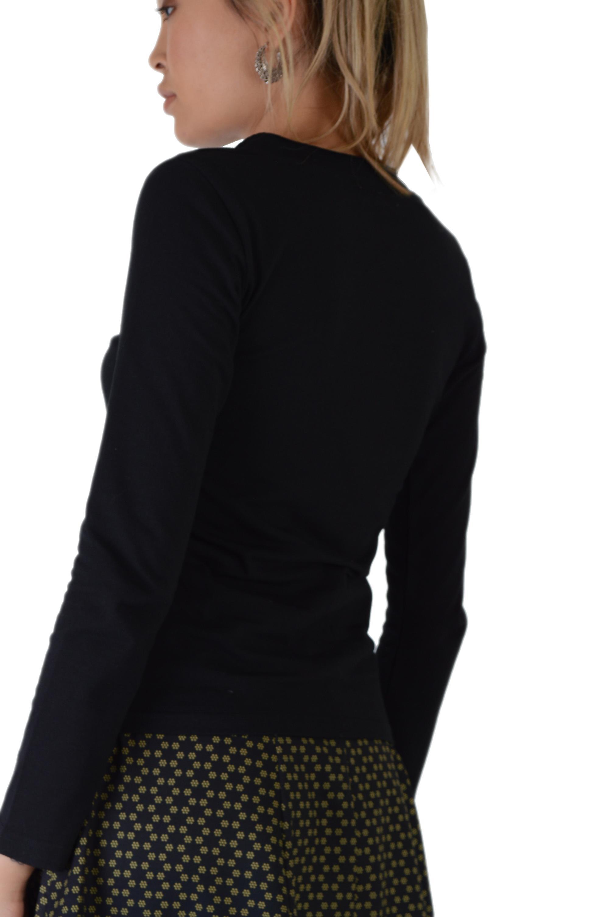Lovemystyle Long Sleeved Black V-Neck T-Shirt - SAMPLE
