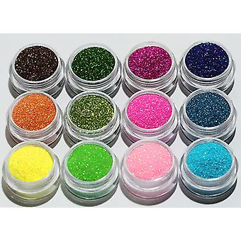 12pcs Fine-grained glitter