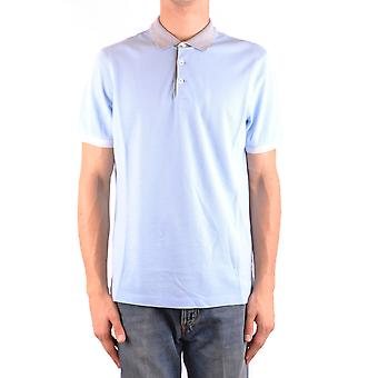 Brunello Cucinelli Ezbc002062 Men's Light Blue Cotton Polo Shirt