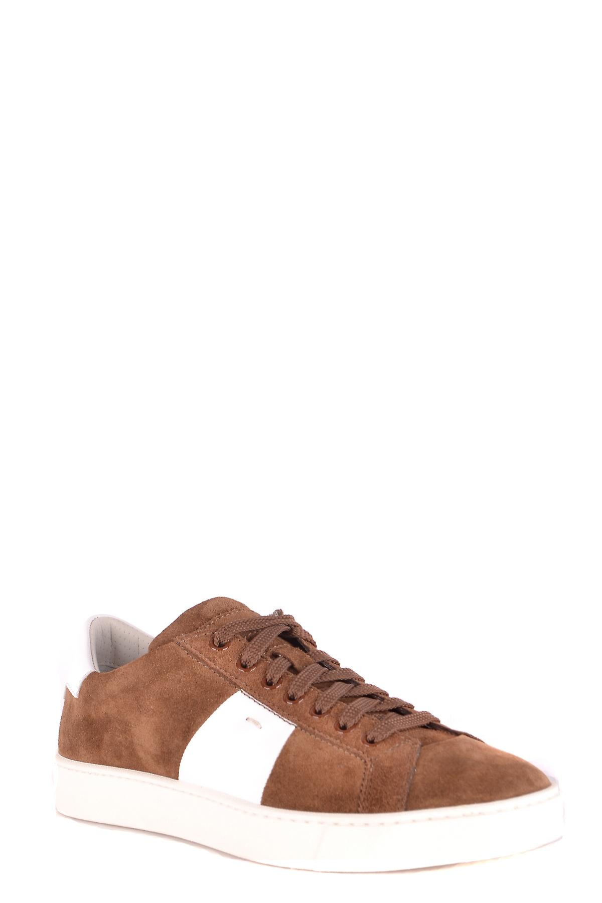 Santoni Mbgu20733panxjdem48 Men's Brown Suede Sneakers QN1S8N
