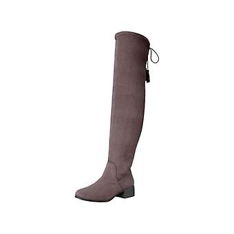 Madden Girl Womens PRISSLEY Fabric Closed Toe Over Knee Riding Boots