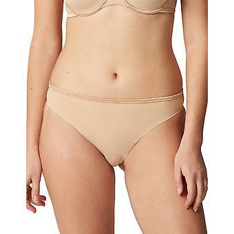 Maison Lejaby 5562M-389 Women's Nuage Pur Power Skin Beige Satin Knicker Panty Tanga