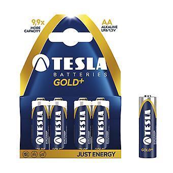 Τέσλα Gold μπαταρίες AA 4-Pack, LR6 αλκαλική μπαταρία