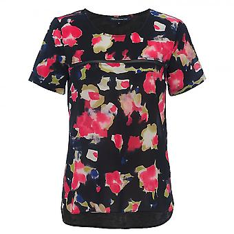 French Connection Bella Crepe Light SS Round-Neck Womens Shirts