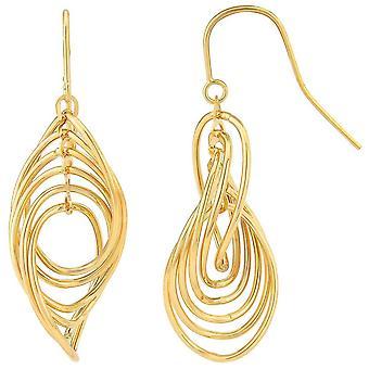 Mark Milton Oval Twist Link Drop Earrings - Yellow Gold