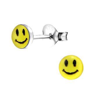 Kinderen sterling zilver Petite smiley gezicht Stud Oorbellen