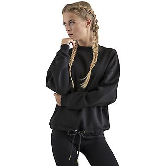 Cotton Addict Womens Oversize Crew Neck Cotton Sweatshirt