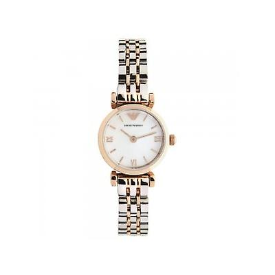 Emporio Armani Ar1689 Ladies Rose Gold & Stainless Steel Watch